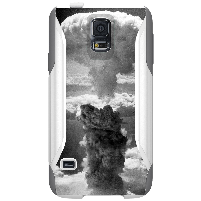 DistinctInk™ Custom White OtterBox Commuter Series Case for Samsung Galaxy S5 - Nuclear Mushroom Cloud