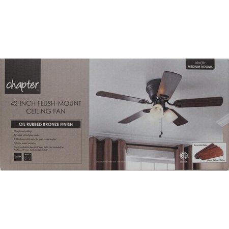 """Chapter 42"""" 3-Light Bronze Ceiling Fan - Walmart.com"""