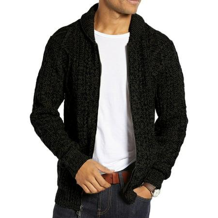 Autumn Winter Men Casual Knit Cardigans Zipper Sweater Coat (Mens Business Casual Cardigan)
