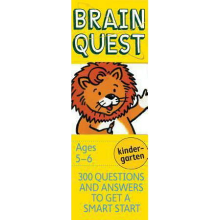 Brain Quest Decks: Brain Quest Kindergarten, Revised 4th Edition: 300 Questions and Answers to Get a Smart Start (Brain Teasers Riddles With Answers For Adults)