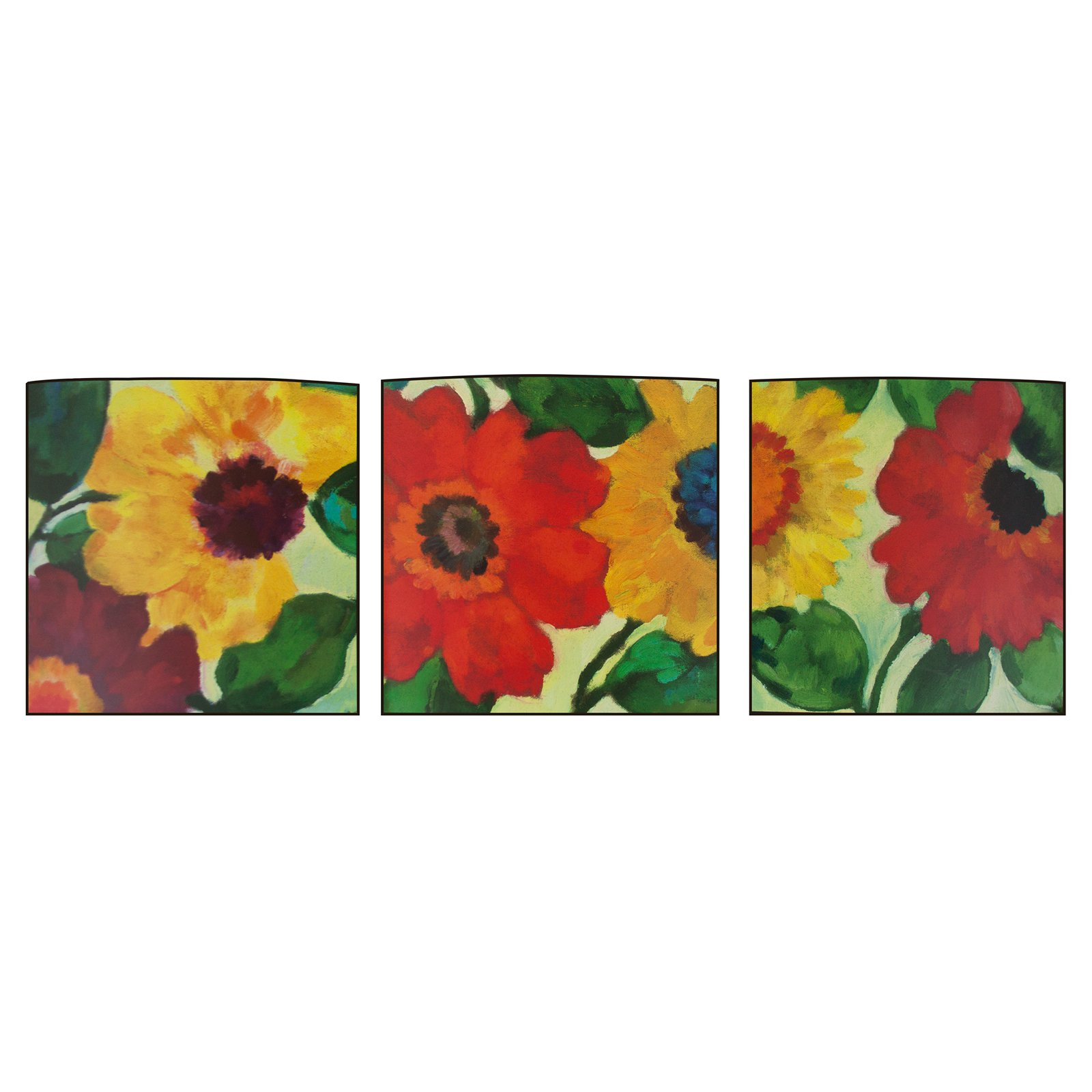 Decor Therapy Anemone Garden Curved Box Wall Art - Set of 3