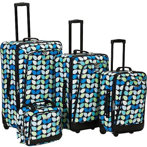 Rockland, 4 Piece Luggage Set, Multileaf