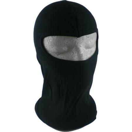 Black Ninja Mask (Ninja Oval Opening Mens Thin Face Ski Mask)