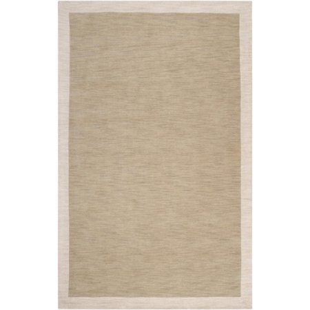 3.25' x 5.25' Simply Neutral Solid Olive & Taupe Hand Loomed and Hand Carved Wool Area Throw Rug - image 1 of 1
