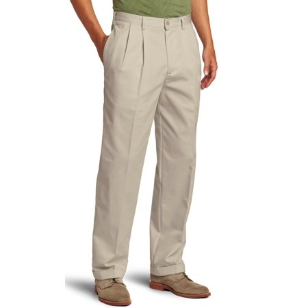 - IZOD NEW Beige Mens Size 36x34 Pleated Classic Khakis Chino Pants