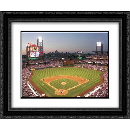 Citizens Bank Park  Philadelphia 2X Matted 23X17 Black Ornate Framed Art Print By Ira Rosen