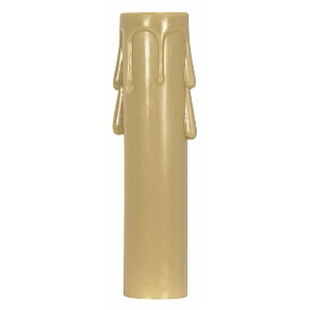 Satco Plastic Drip Candle Covers 1-3/16in Inside Diameter 7/8in Outside Diameter Antique Gold Plastic Drip -