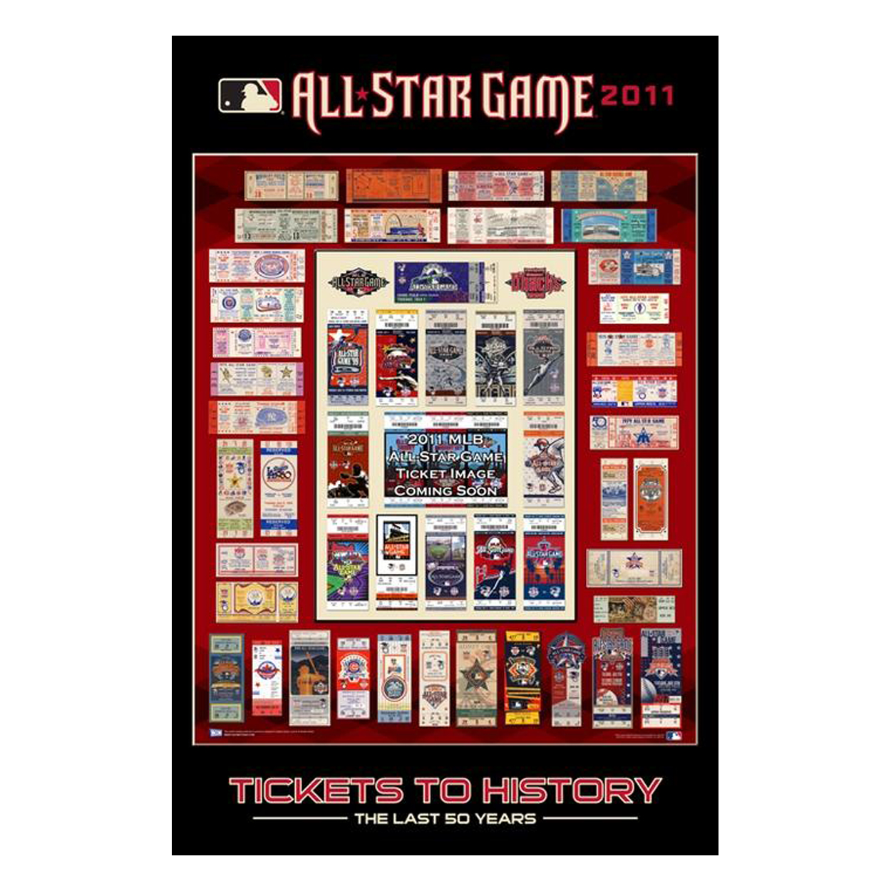 2011 MLB All Star Ticket Poster