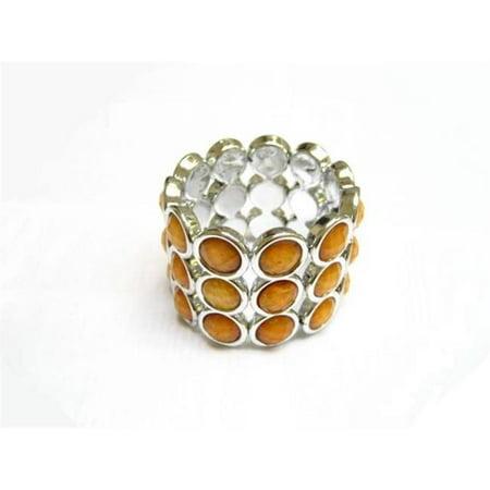 Alur Jewelry 16204AM Plastic Stud Bracelet in Amber
