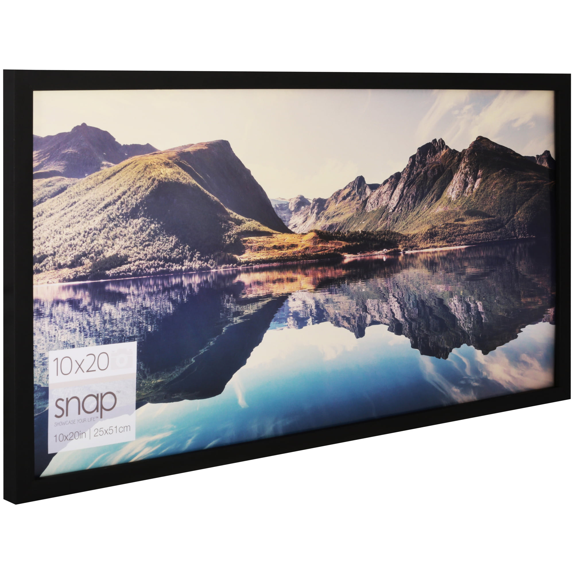 Snap 20-inch-by-10-inch Black Wood Frame