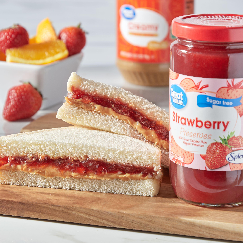 Great Value Sugar-Free Preserves, Strawberry, 13 oz