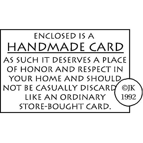 Judikins Rubber Stamp, Handmade Card