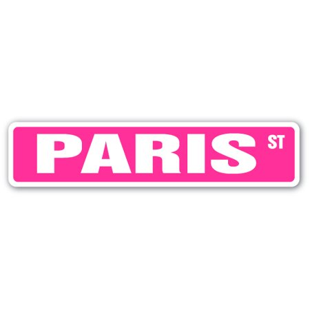 Paris Street Sign Name Childrens Room Door Gift Kid Child Boy Girl Wall Entry