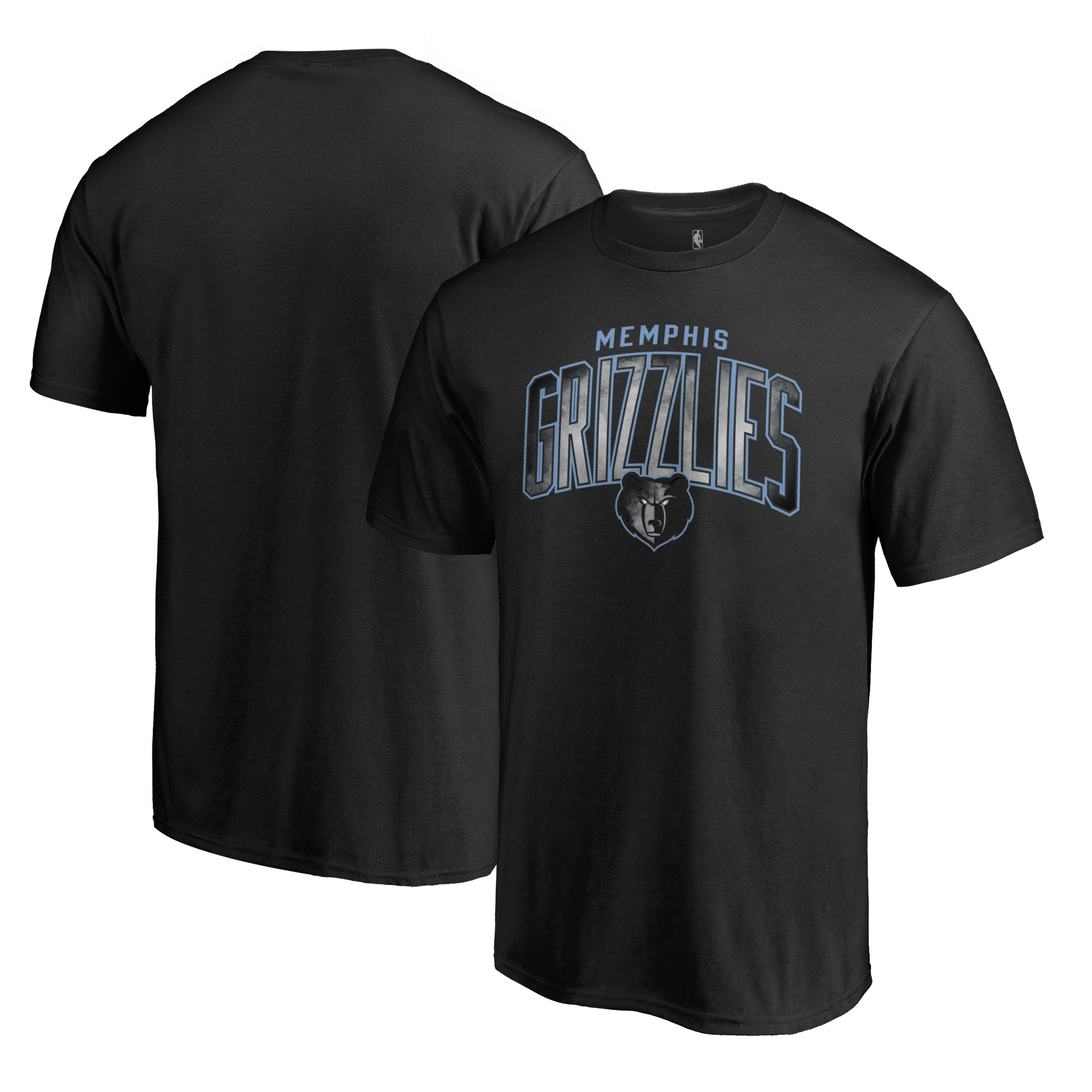 Memphis Grizzlies Fanatics Branded Arch Smoke T-Shirt - Black