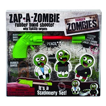 Zap-A-Zombie Stationery Set, Rubber band shooter with eraser targets By Westminster](Food Erasers At Target)