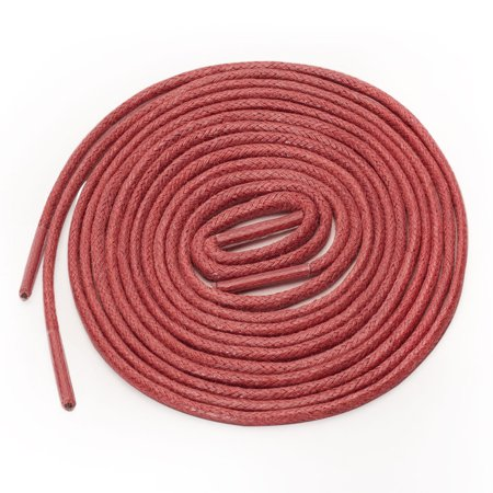 Round Waxed Shoelace Color Oxford Shoestring Dress Shoe Boots Red 140cm - image 1 de 4
