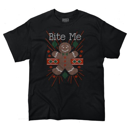 Ugly Christmas Shirt Ideas (Bite Me Ugly Christmas Sweater Funny Shirts Gift Ideas Cool T-Shirt Tee by Brisco)