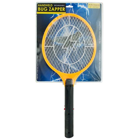 Insect Swatter (Electric Rechargeable Bug Zapper Fly Killer Swatter Racket Zap Mosquito Best for Indoor and Outdoor Pest Control LED Dark Safety mesh)