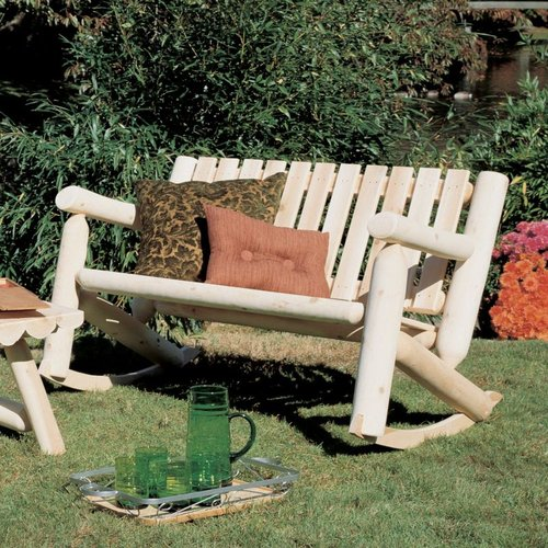 Rustic Natural Cedar 010006A Cedar Looks Outdoor Double Rocker Settee
