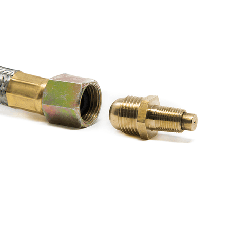 "GasOne Propane Orifice Connector Brass Tube Fitting 3/8"" Flare x 1/8"" Mnpt or Male Pipe by Gas One"