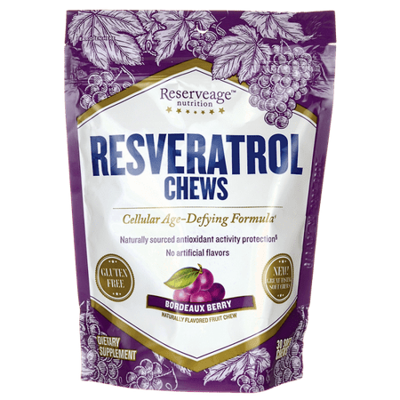 Reserveage Nutrition Resveratrol Chews - Bordeaux Berry 30 Chews