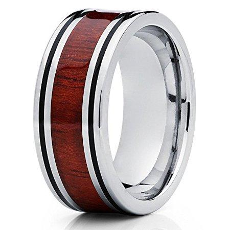 Silly Kings Koa Wood Titanium Ring 8mm Titanium Wedding Band