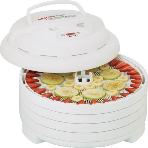 NESCO Gardenmaster 4 to 20 Tray Expandable Digital White Food Dehydrator, 4 Piece