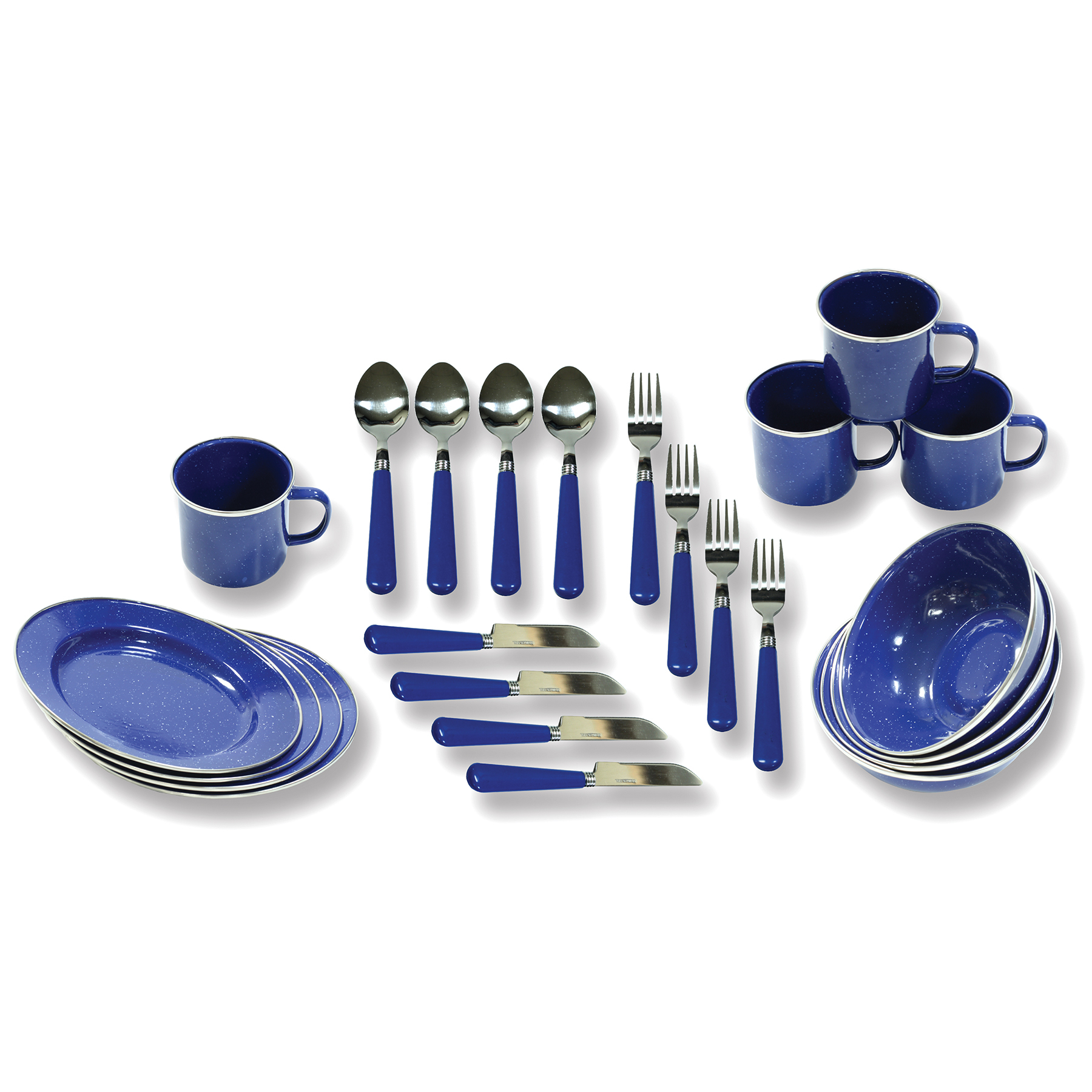 Stansport 24-Piece Enamel Camping Tableware Set by Stansport Outdoor