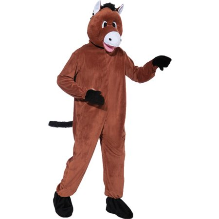 Horse Mascot Adult Halloween Costume - One Size - Homemade Halloween Costumes For Horses