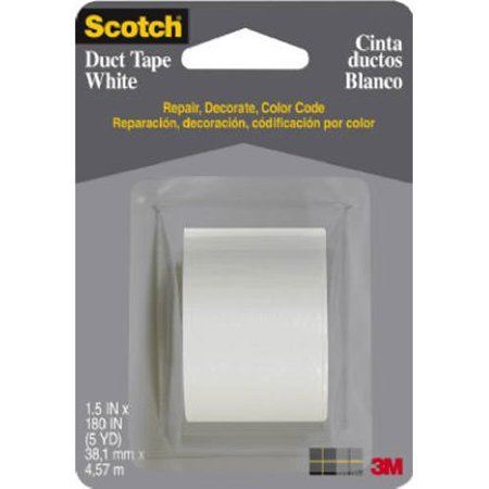 1005-WHT-CD Durable Waterproof Duct Tape, 5-Yards, White..., By Scotch Ship from US (Scotch Water)