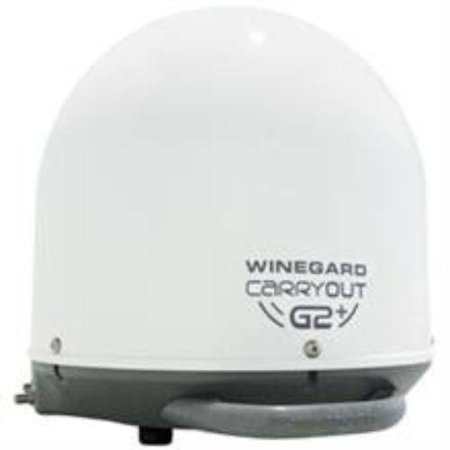 Winegard Gm-6000 Carryout[r] G2+ Automatic Portable Satellite Tv Antenna With Power Inserter [white]