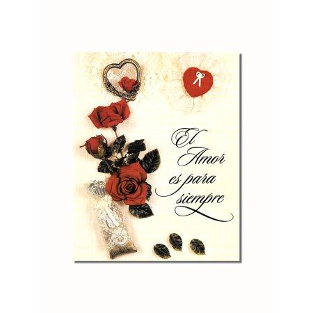 Latin Art - Hispanic El Amor Es Para Siempre Inspirational With Flowers Wall Picture 8x10 Art Print