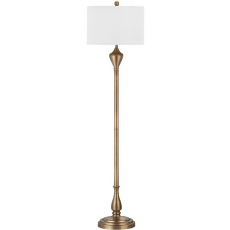 Safavieh Xenia Floor Lamp With Cfl Bulb  Gold With Off White Shade