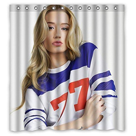 Deyou Hot Woman Iggy Azalea Sexy Photo Shower Curtain Polyester Fabric Bathroom Shower Curtain Size 60X72 Inch