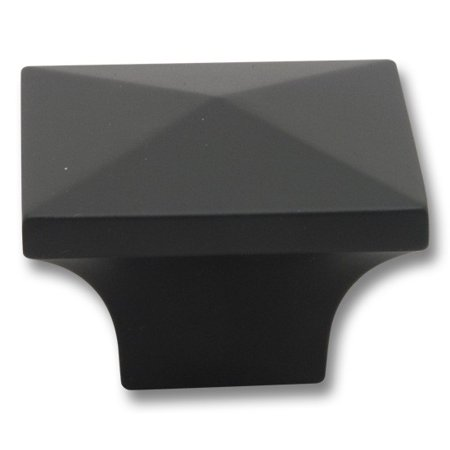 0.375 Square Knob - Matte Black 1 1/4