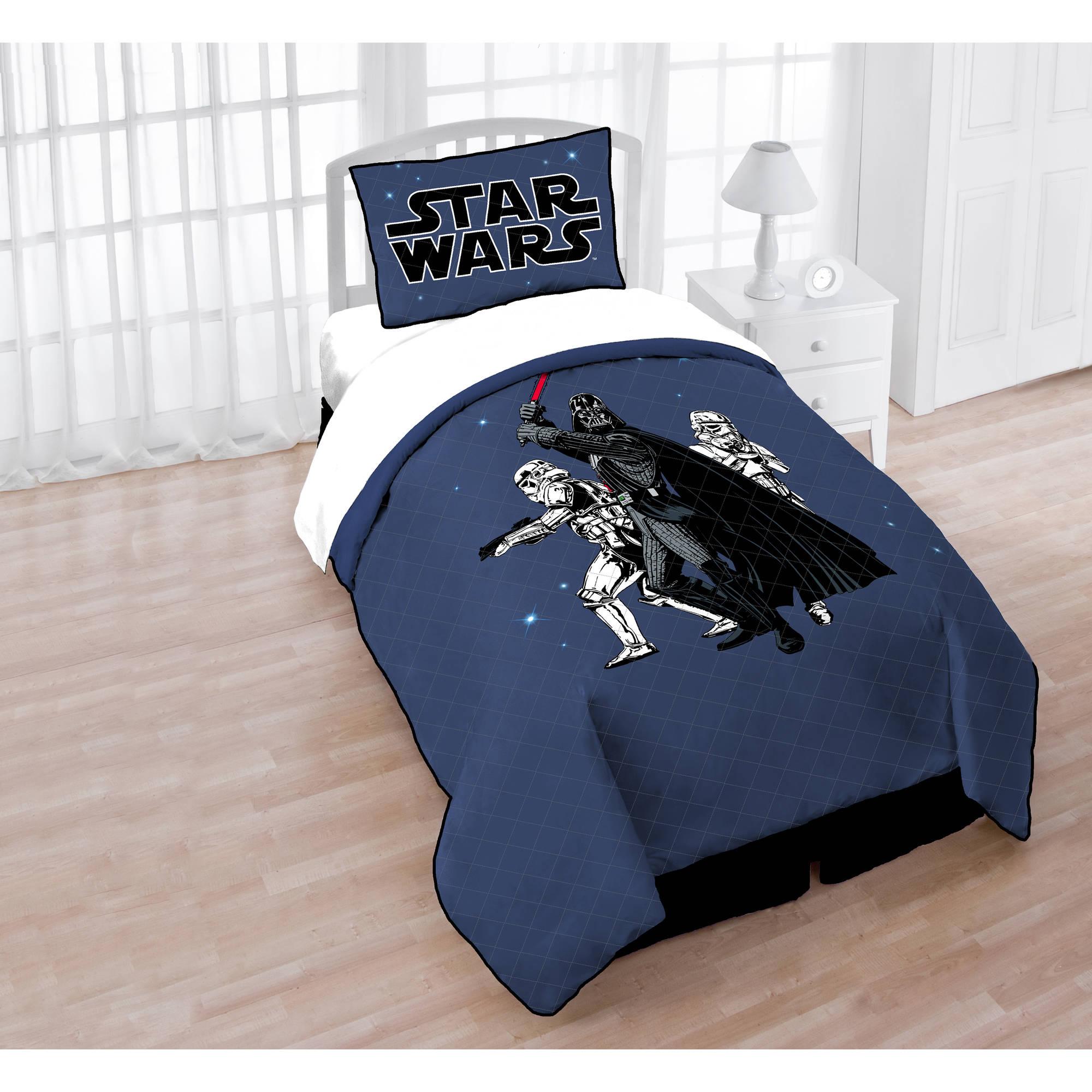 star wars quilt and sham - walmart