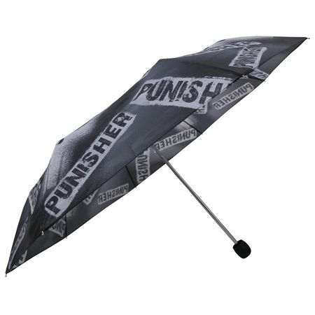 DC Comics Marvel The Punisher Black Polyester/Metal Adult Compact (Dc Comics Umbrella)