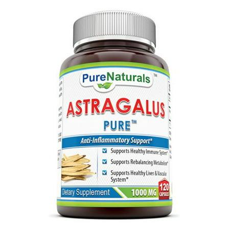 Pure Naturals Astragalus 1000 Mg 120 Capsules