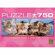 EuroGraphics Cats Under Blanket Jigsaw Puzzle 750-Piece Puzzle