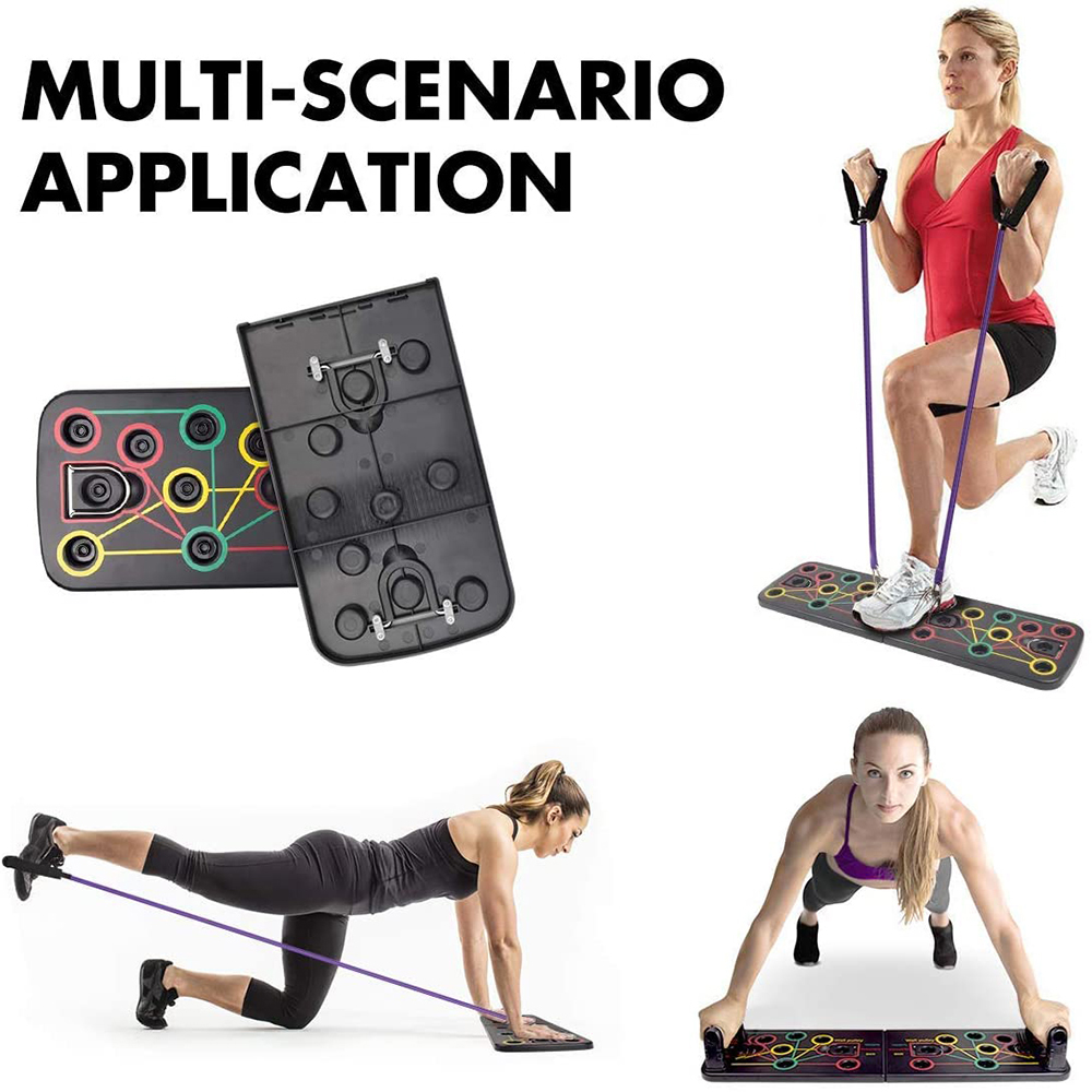 Push-Up Board Press Stand Handles Pull Press Chest Bar Fitness Workout E4K4