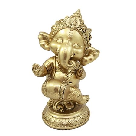 - Atlantic Collectibles Ceremonial Dancing God Ganesha Elephant With Mridangam Drum Decorative Figurine 6