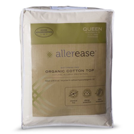 Trim Organic Cotton - AllerEase Organic Cotton Cover Allergy Protection Mattress Pad