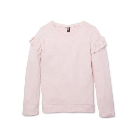 Star Ride Girls 4-18 & Plus Ruffle Long Sleeve Tunic Cozy Top
