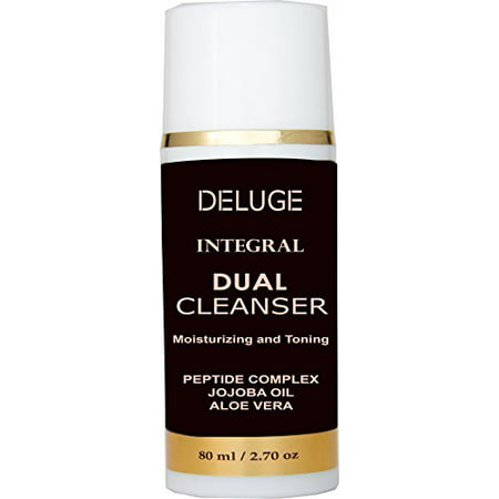 (DELUGE - CREAM CLEANSER, MOISTURIZING AND TONING WITH PEPTIDES COMPLEX, AMINO ACIDS, SHEA BUTTER, JOJOBA OIL, 100% ORGANIC OILS. 70% ORGANIC. NON-FOAMING MAKEUP REMOVER. ANTI- AGING FACE CLEANSER.)
