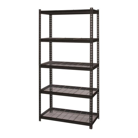 Hirsh Rivet Shelving 36x72 5 Shelf Wire Deck Storage -