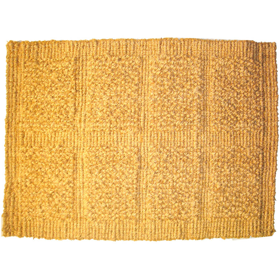 J & M Home Fashions Plain Tile Loop Coco Doormat