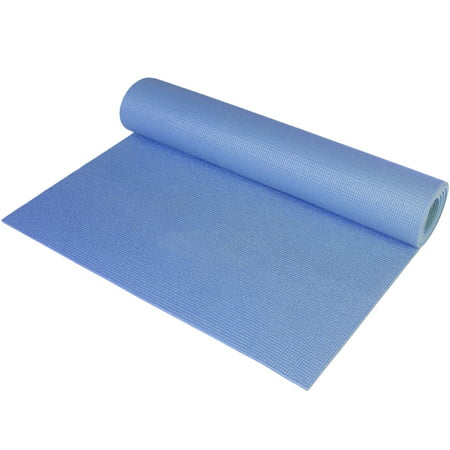 CAP Fitness Yoga Mat, 3 mm, Blue