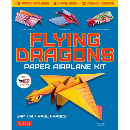 Flying Dragons Paper Airplane Kit: 48 Paper Airplanes, 64 Page Instruction Book, 12 Original Designs, Youtube Video Tutorials (Other)