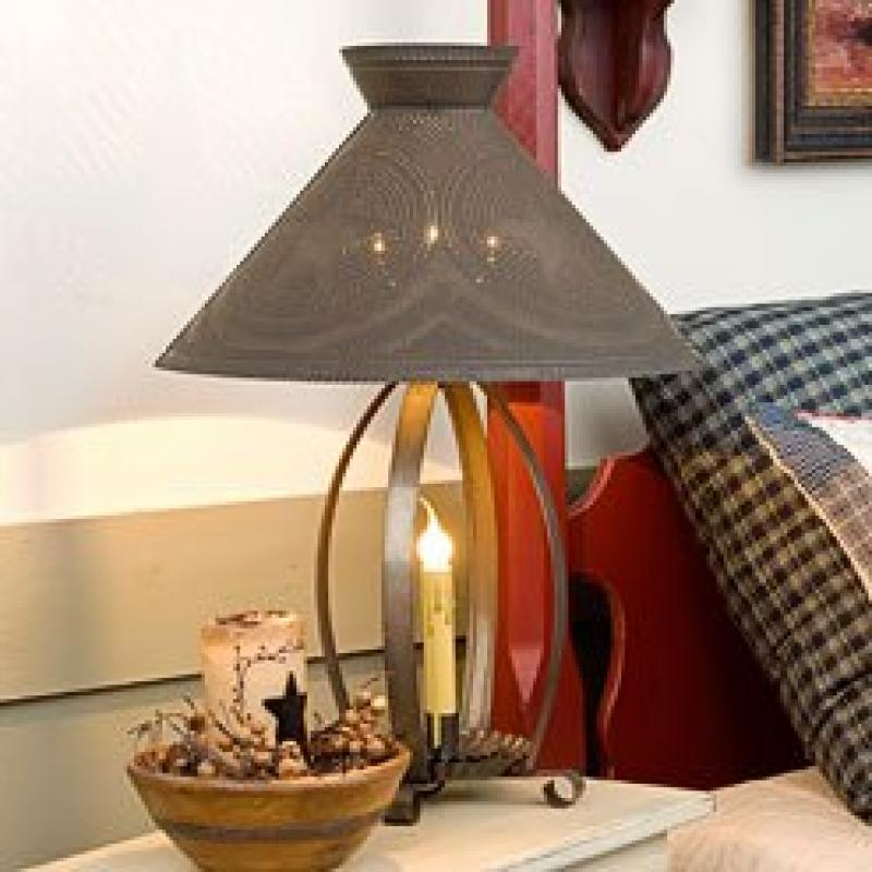 Betsy Ross Lamp in Blackened Tin with Regular Star 629RGS...