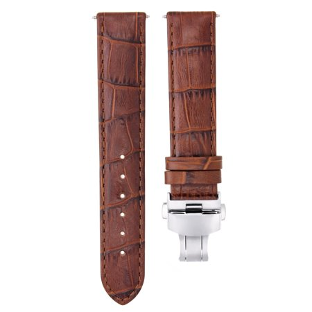 20MM LEATHER WATCH STRAP BAND FOR 40MM ROLEX SUBMARINER GMT MASTER II L/BROWN #7 ()